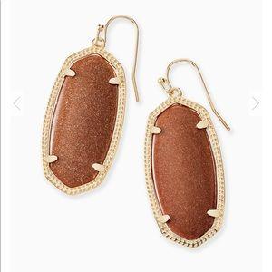 Elle Gold Drop Kendra Scott earrings in Goldstone